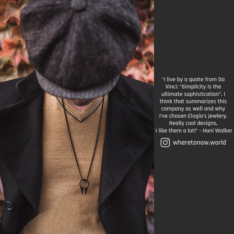 Men's Necklaces - The Kakute - Matte Black