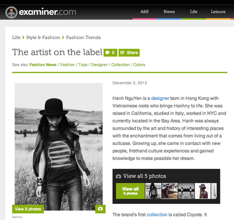 examiner interview artist designer behind label