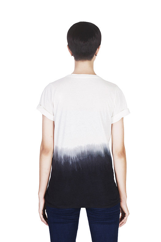 Back view of Snowdrops T-shirt by Hanhny