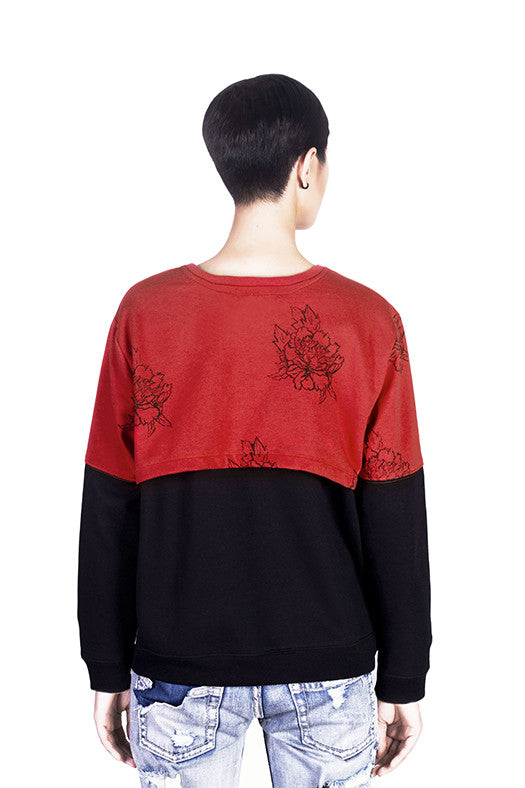Back view of Jelena sweater by Hanhny