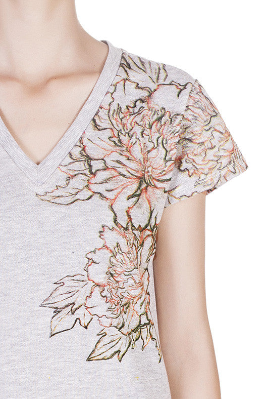 Detail view of Peony dress by Hanhny