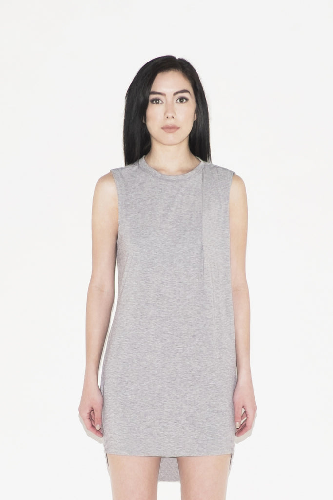 Deneb Pleated Shoulder Dress