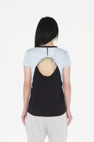 Shaula Open Back Top (black / denim)