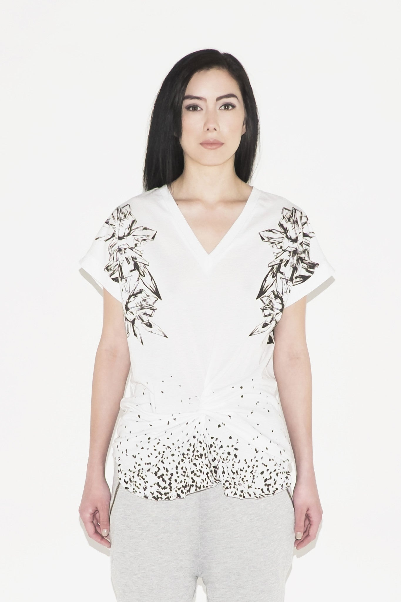 W Galena Twisted Front Tee (white)