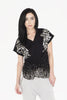 W Galena Twisted Front Tee (black)