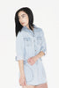W Polaris Denim Shirt Dress