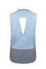 W Castor Contrast Back Tank (grey/denim)