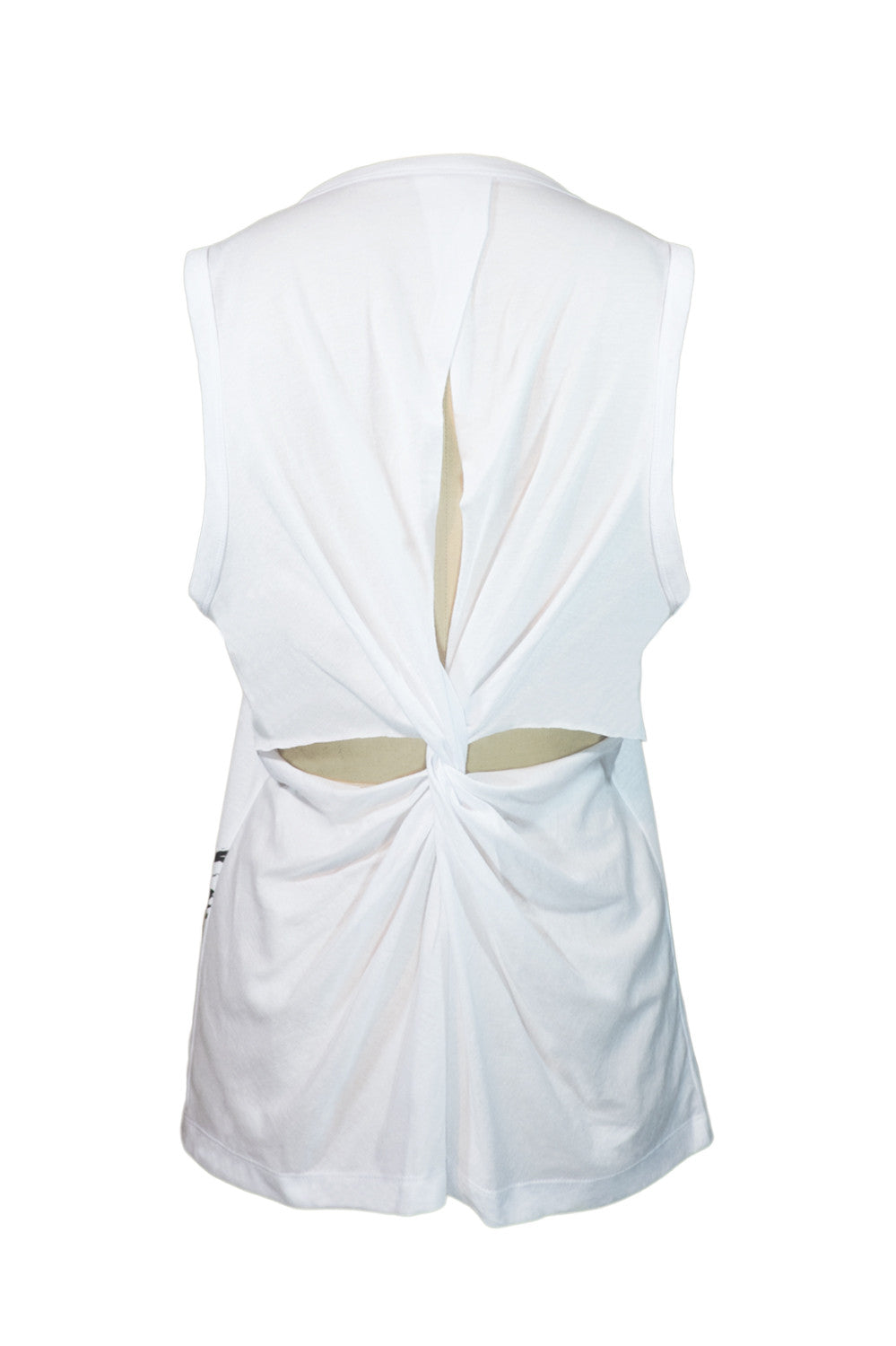 W Agate Twisted Back Tank (white)