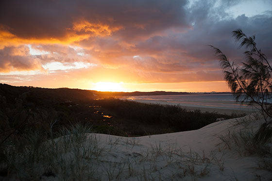 Fraser Island Beach Sunset