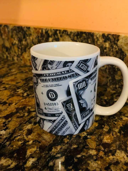 Millionaire Money Coffee Mug Sale - The Universe doesn't know whether you have a milllion dollars or you just Feel Like a Million Dollars - Abraham Hicks