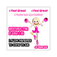 Law of Attraction Cheer Sticker