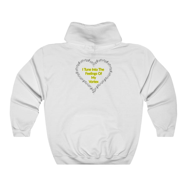 I Tune Into The Feelings Of My Vortex - Abraham Hicks Law Of Attraction - Unisex Heavy Blend™ Hooded Sweatshirt