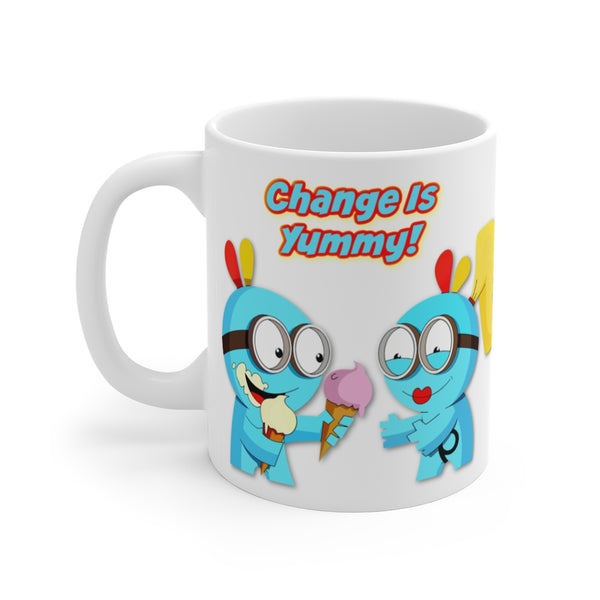 "Change Is Yummy!  ""Things More Delicious Than You Could Have Imagined Are On Their Way To You!"" Abraham Hicks Mug 11oz"
