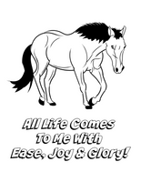 "Free Coloring Page ""All Life Comes To Me With Ease, Joy & Glory."" Freebie. Access Consciousness Mantra"