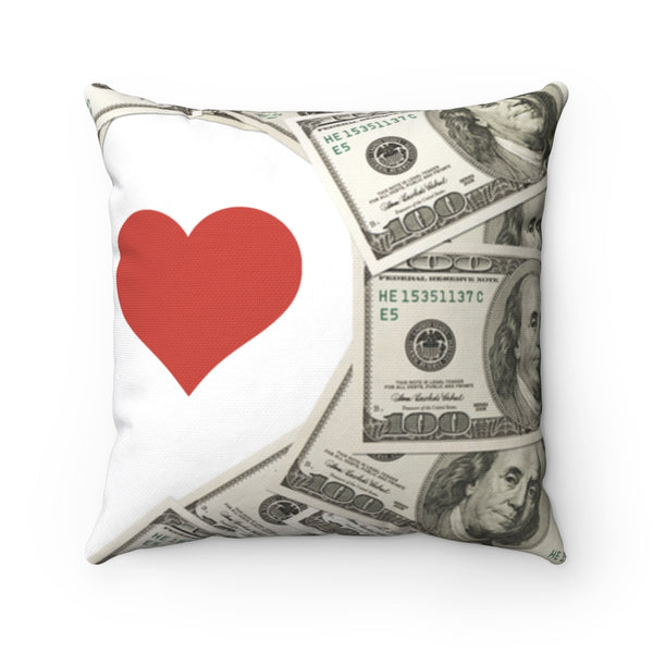 I Love Money - Polyester Square Pillow
