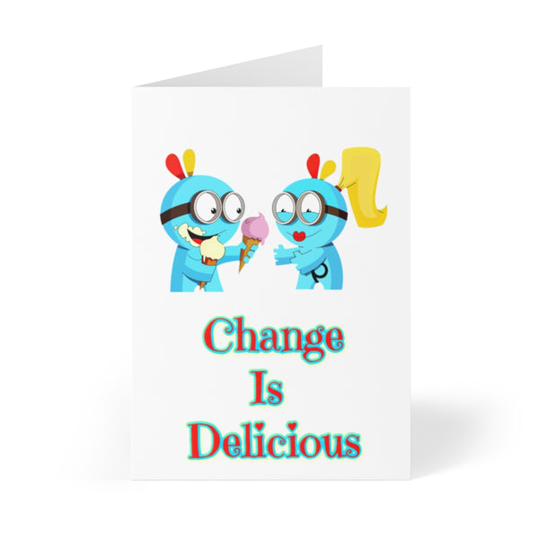 """Change Is Delicious"" Abraham Hicks Inspired Greeting Cards (8 pcs)"