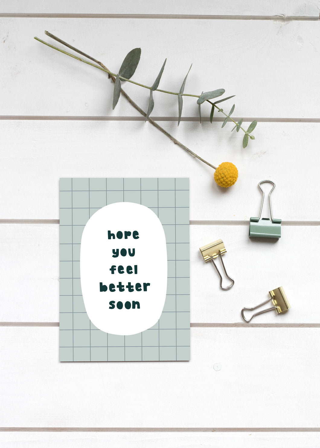 Rectangle Post Card - Hope you feel better soon
