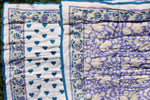 SZ Baby Quilt in Padra Print in Violet & Camel