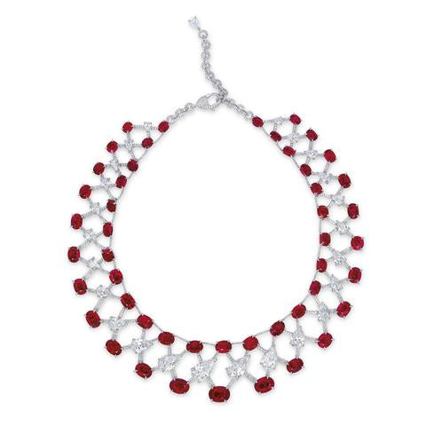 An Outstanding Ruby and Diamond Necklace by Etcetera
