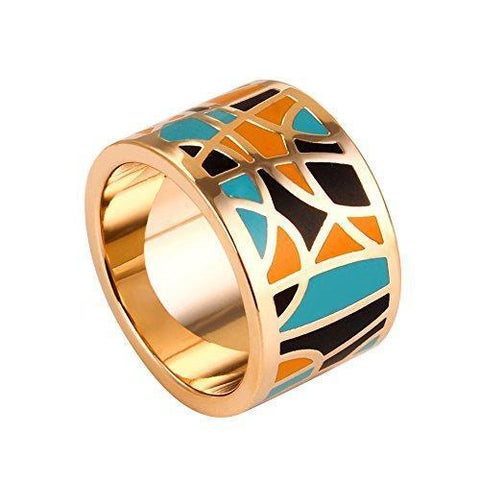 Gold Plated Egyptian Inspired Stainless Band