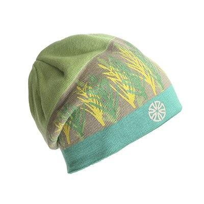 Leaf Pattern Cotton Woven Fitted Cap (4 Available Color)
