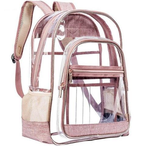 Large Translucent Waterproof School Backpack