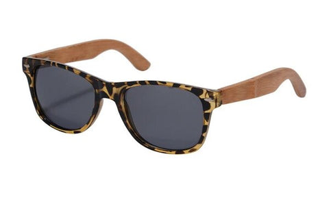 Polarized Tiger Bamboo Frames Sunglasses