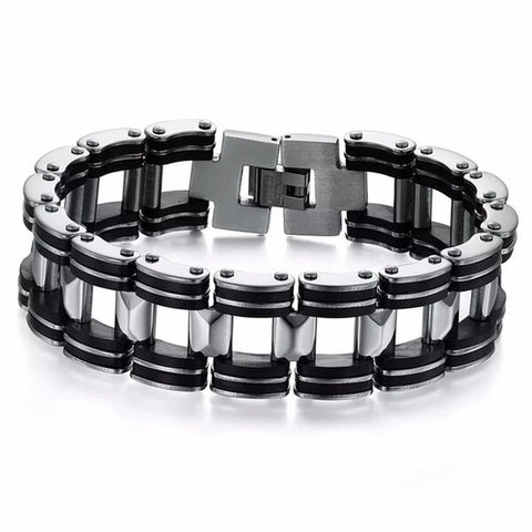 Black and Silver Titanium Chain