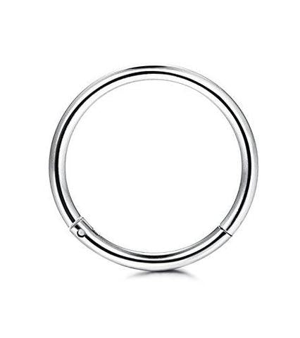 14 & 16G Stainless Steel Clicker Nose Ring