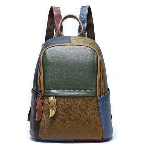 Traditional Spacious Genuine Leather Backpack