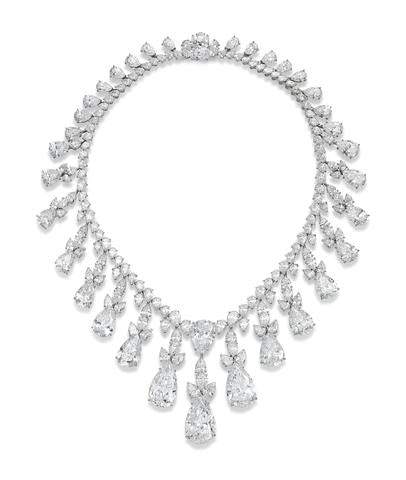 Remarkable Diamond Fringe Necklace, By Harry Winston