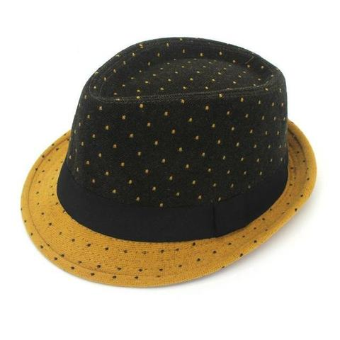 Two-tone Spotted Modern Wool Hat (5 Available Colors)