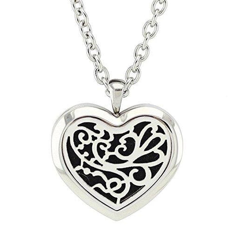 Stainless Steel Aromatherapy Locket Diffuser Necklace