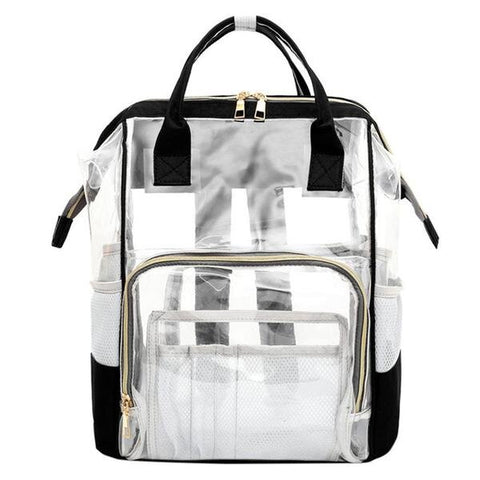 Large Chic Ladies Translucent Backpack