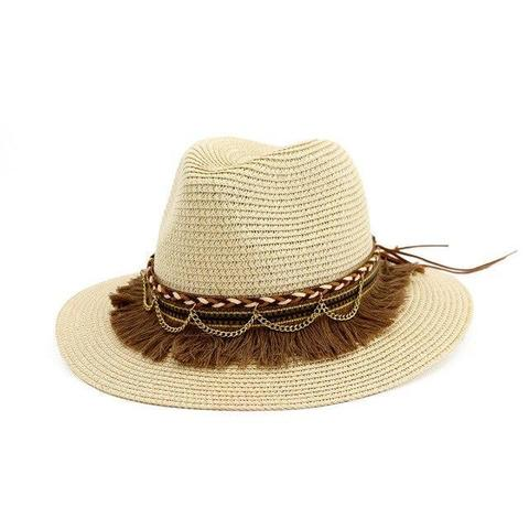 Summer Chic Brown Tassel Straw Hat (5 Available Colors)