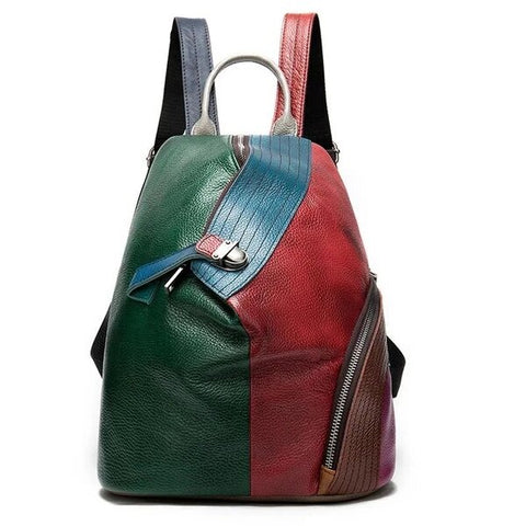 Colorful Modern Genuine Leather Backpack