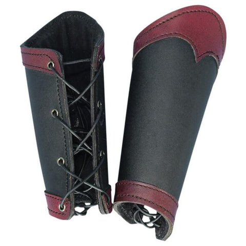 Two-Tone Steampunk Leather Arm Guard
