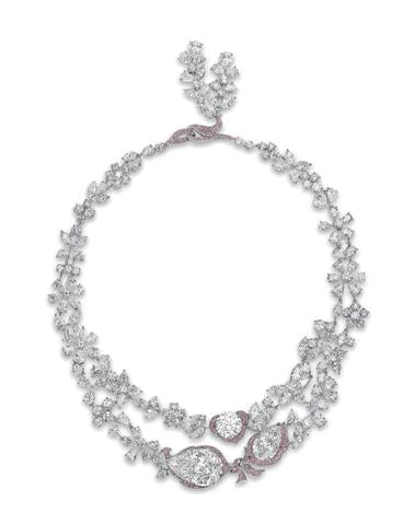 Le Jardin D'Isabelle Clear and Colored Diamond Necklace by Boehmer Et Bassenge