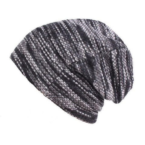 Skater Kaleidoscope Cotton Knotted Slouch Cap (3 Available Color)
