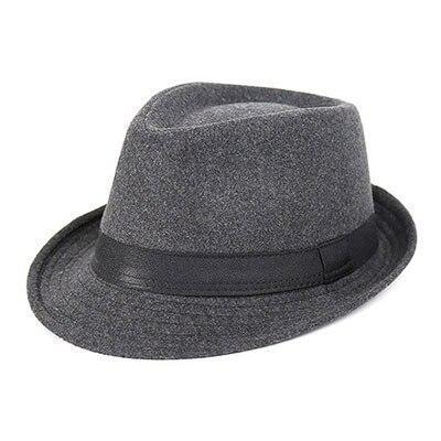 Short Brim Faux Leather Hatband Polyester Hat (2 Available Colors)
