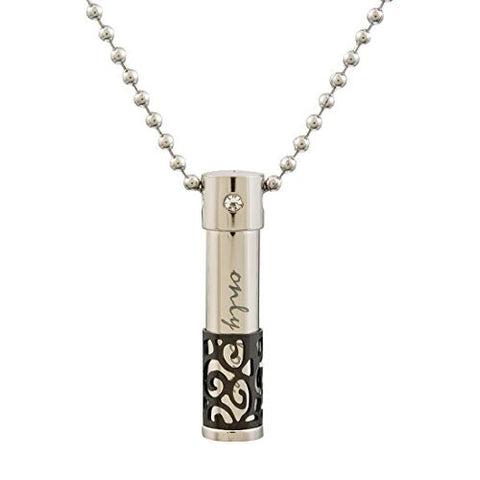 Black Urn Pendant Essential Oil Necklace for Women