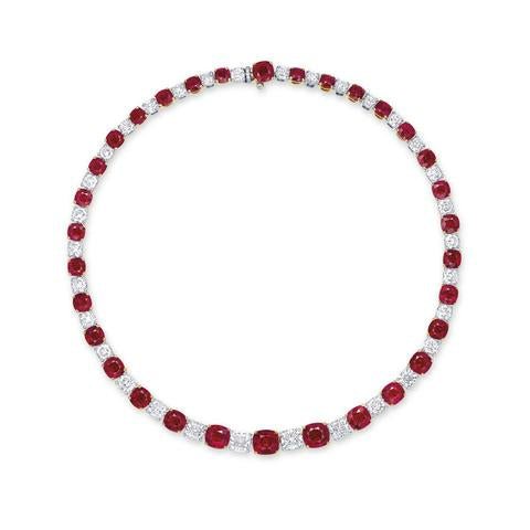 An Outstanding Ruby and Diamond Necklace, By Faidee