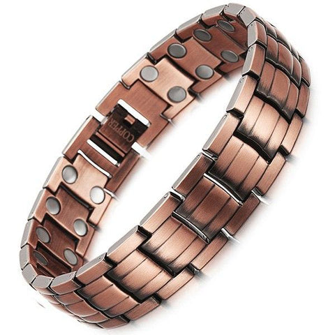 Double Row Copper Magnetic Therapy Bracelet