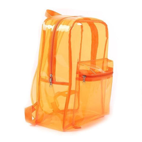 PVC Translucent School Backpack for Teens
