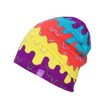 Melted Ice Cream Colorful Knitted Beanie (4 Available Color)