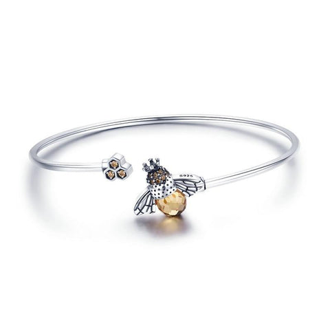 Honey Bee 925 Sterling Silver Bangle