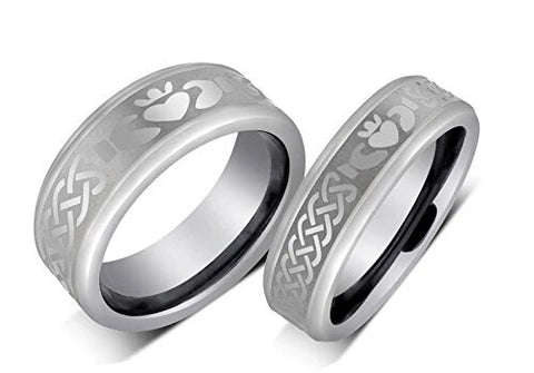 Irish Claddagh Celtic Design Wedding Band