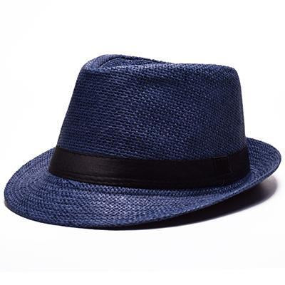 Modern-day Dyed Straw Trilby Straw Hat
