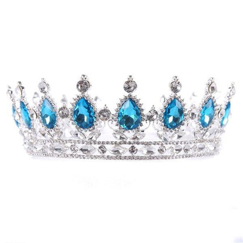 Baroque Crystal Wedding Crown Tiara