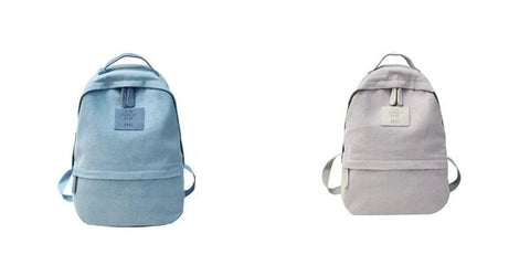 Simple School Backpack with Zipper, Slot Pocket, and an Interior Compartment